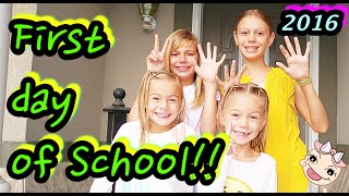 FIRST DAY OF SCHOOL!!