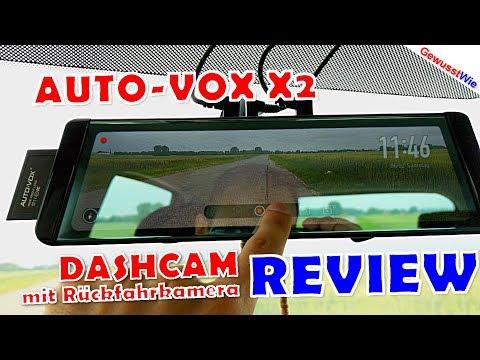 Dashcam AUTO VOX X2 - FULL REVIEW - Filmen vorne UND hinten! inkl. Rückfahrkamera