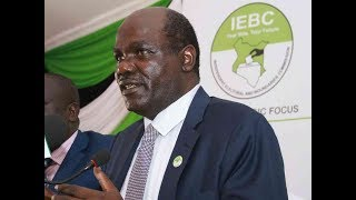 BREAKING NEWS: IEBC Chairman Wafula Chebukati's emotional reaction to Akombe's resignation