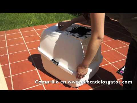 Caja de arena para gatos Cat it con tapa retráctil