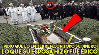 Él pidió a su esposa que lo enterrara con TODO su dinero y lo que ella hizo fue épico