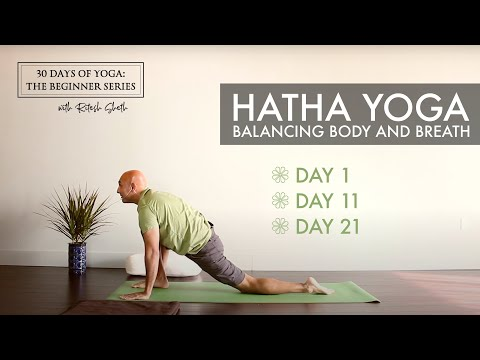Day 1: Hatha Yoga   30 Days of Yoga for Beginners with Ritesh Sheth