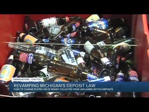Beverage distributors push for portion of the money in Michigan's bottle deposit law
