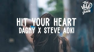 Dagny x Steve Aoki - Hit Your Heart (Lyric Video)