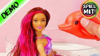 BARBIE Meerjungfrau Puppe & Delphin baden im Pool | 2in1 Verwandlung & Farbwechsel | Mattel deutsch