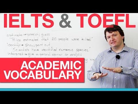 IELTS & TOEFL Academic Vocabulary - Verbs