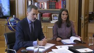 Videoconferencia de Sus Majestades los Reyes con METRO de Madrid