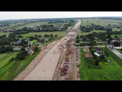 Planowana droga S19 odc. 3 obwodnica m. Kraśnik - widok lotniczy - czerwiec 2020 r.