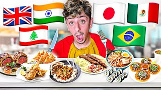 Eating Different Foods from Around the World! 🌍