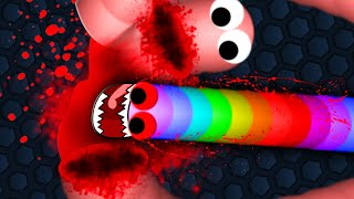 Slither.io ESCAPING HUGE SNAKE TRAP!! | HOW TO BLAST THROUGH GIANT SNAKE CIRCLING | Slither.io Epic