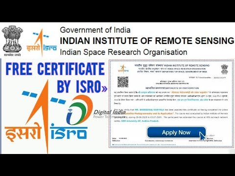 ISRO Free Certificate 2021   ISRO And Government of India Free ...