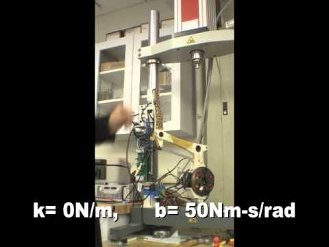 Impedance control of MIT Cheetah leg