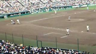 第92回全国高校野球選手権開星vs仙台育英ファインプレーで終了