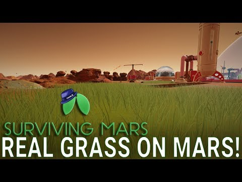 GROWING GRASS ON MARS! - Surviving Mars Green Planet DLC Gameplay - Part 16 - Let's Play