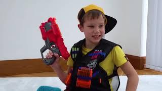 Nerf для Макса и Shimmer and Shine игрушки для Кати