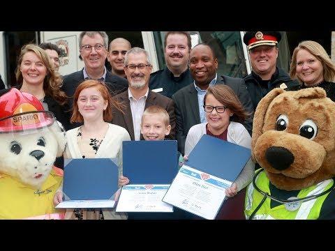 Young 911 heroes honoured