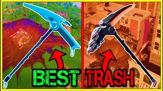 RANKING EVERY BATTLE PASS PICKAXE FROM WORST TO BEST! (Fortnite Battle Royale!)