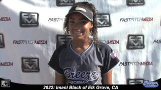 2022 Imani Black Power Hitting First Base Softball Player Skills Video - CA Breeze Fernald