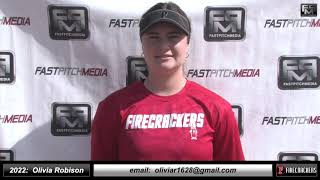 2022 Olivia Robison 3.73 GPA, Power Hitting Catcher & 3rd Base Softball Skills Video - Firecrackers