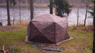 Палатки зимние с печкой берег