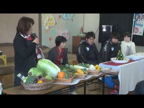 高萩市立第一幼稚園で食育講座とサッカー教室