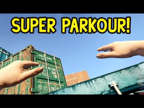 FIRST PERSON PARKOUR! GTA 5 Funny Moments: Olli43 Vs Geo23!