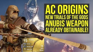 Assassin's Creed Origins Trial of the Gods New Anubis Weapon ALREADY OBTAINABLE (AC Origins)