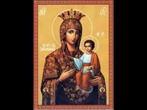 Богородице Дево на греческом