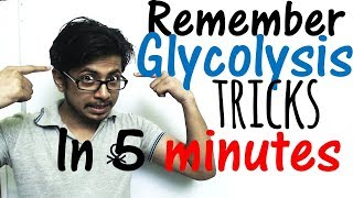 How to remember glycolysis in 5 minutes ? Easy glycolysis trick