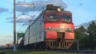 Электровоз ВЛ11М-309 с грузовым поездом, станция Люберцы 1