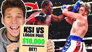 So I Tried Betting $10,000 On KSI vs Logan Paul Fight...