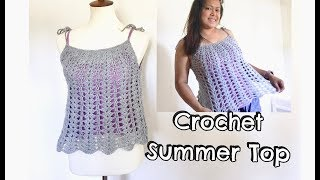 How To Crochet Summer Top / Easy Crochet Top Tutorial