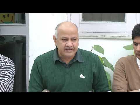 DY CM Manish Sisodia Briefs on the Minimum Wage Drive