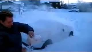Кипяченная вода превращается в лёд