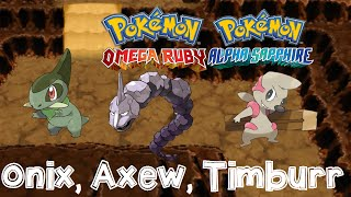 Timburr  - (Pokémon) - Pokemon Omega Ruby and Alpha Sapphire HOW TO CATCH/FIND ONIX, AXEW, TIMBURR, ABRA with Dexnav!