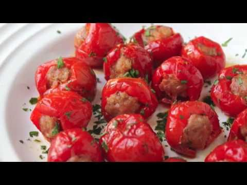 Food Wishes Recipes – Sausage Cherry Pepper Poppers Recipe – Stuffed Cherry Pepper Poppers