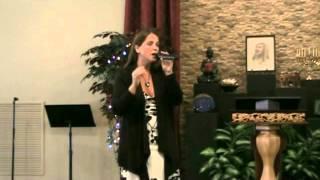 """Asha Lightbearer singing """"I Release"""" on Aug  3, 2014"""