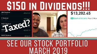 OUR STOCK PORTFOLIO UPDATE | Taxes & Our Dividend Income (Ep. 4 - Mar 2019)