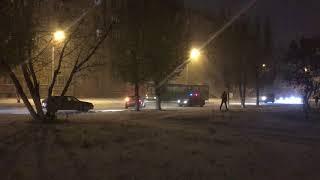 Из-за гололёда полиция разворачивала авто, который ехали через лог Костаная-23.10.17