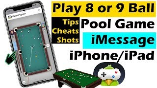 How to Play 8 Ball Pool Game in iMessage in iOS 14, Cheats, Shots, Game Settings and Tips (2021)