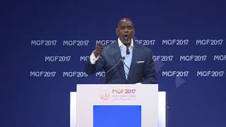 Chris Gardner speaks at Misk Global Forum 2017