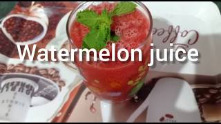 Watermelon juice /Summer drink recipe/easy to make homemade watermelon juice