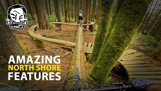 Riding Insane & Beautiful North Shore MTB features