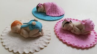 How To Make Fondant/Gumpaste BABY Cake Topper - Tutorial