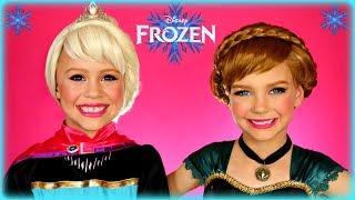 Disneys Frozen Elsa And Anna Coronation Makeup Tutorial