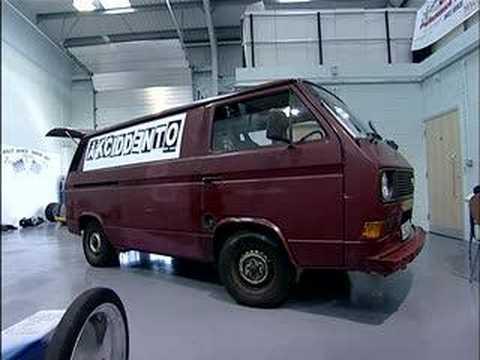 akciddento turbo race vw t25 bus on TV