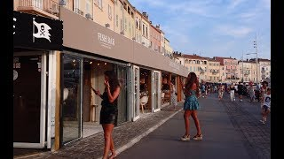 Walking In Saint-Tropez French Riviera August 2019 4K