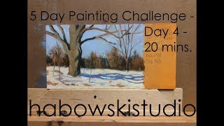 5 Day Painting Challenge - Day 4 - 20 Mins.