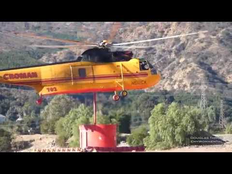 Helicopter & Airplane Thomas Fires: Firefighting Santa Barbara - By Douglas Thron December 13, 2017