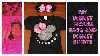 DIY Cheap Disney Minnie Ears And Disney Bling Shirts